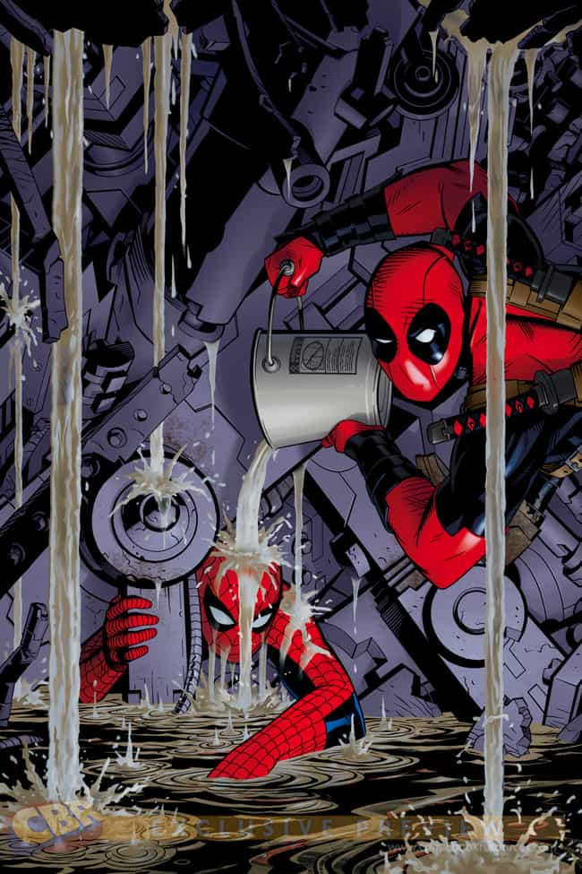 Deadpool Photobombs Amazing Sp... is listed (or ranked) 1 on the list Deadpool Photobombs 20 Classic Marvel Comic Book Covers