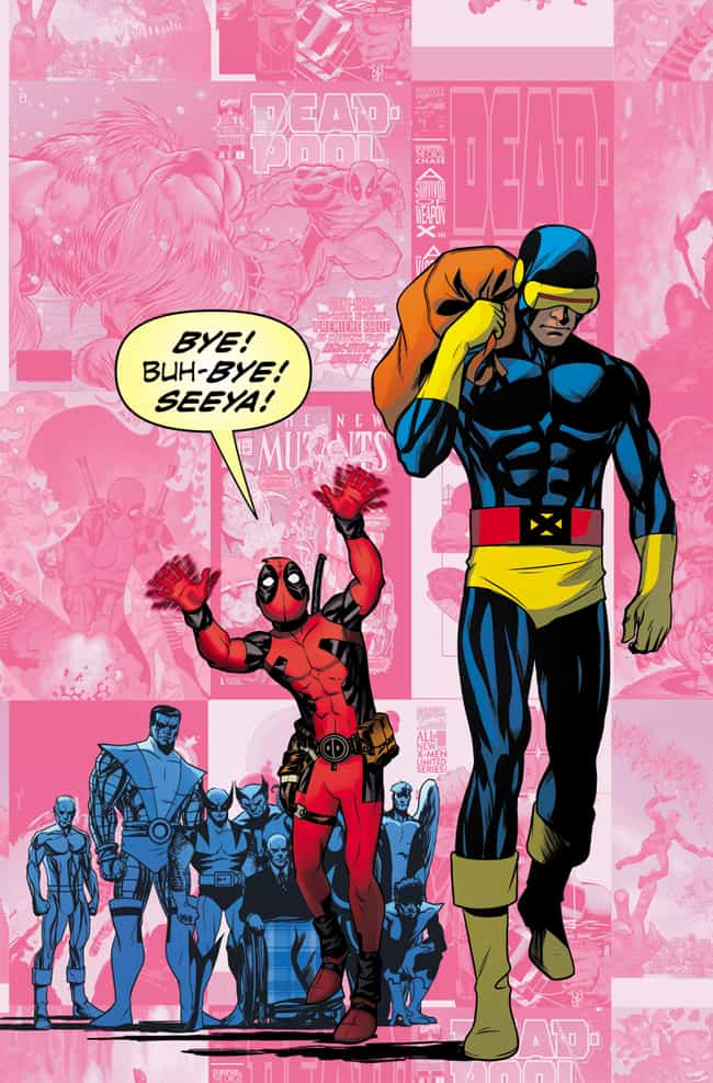 Deadpool Photobombs Uncanny X-... is listed (or ranked) 4 on the list Deadpool Photobombs 20 Classic Marvel Comic Book Covers