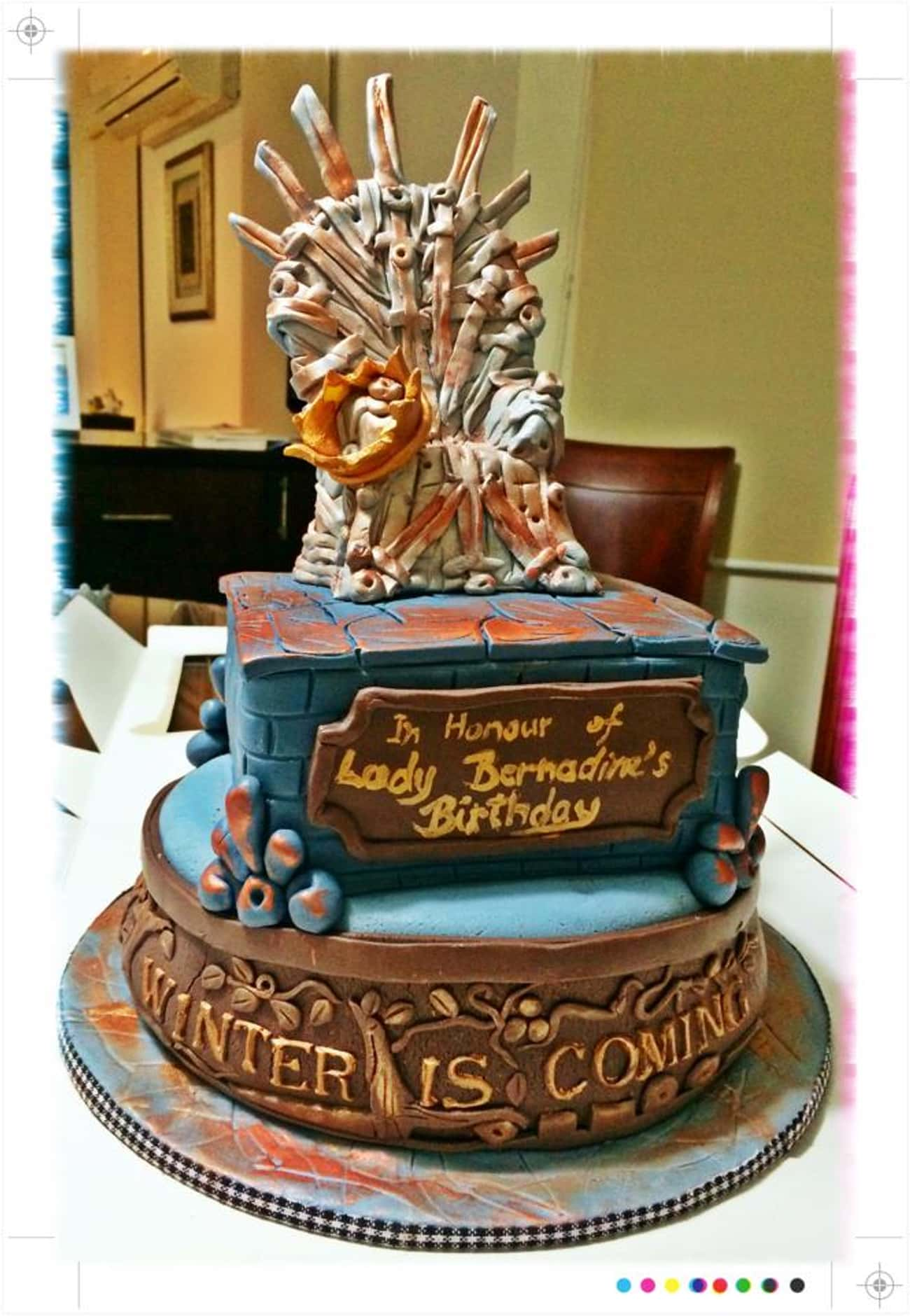 Bernadine's Name Day is listed (or ranked) 3 on the list 25 Game Of Thrones Cakes Just Waiting To Get Cut
