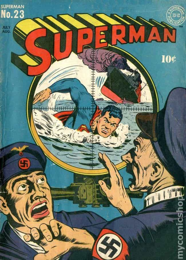 Superman #23 is listed (or ranked) 3 on the list The 100 Best Comic Book Covers of the 1940s