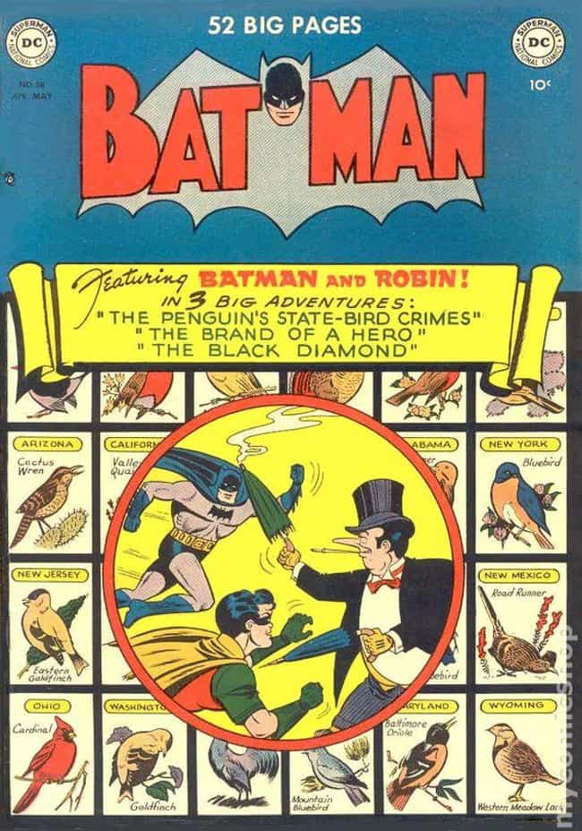 Batman #58 is listed (or ranked) 4 on the list The 100 Best Comic Book Covers of the 1950s