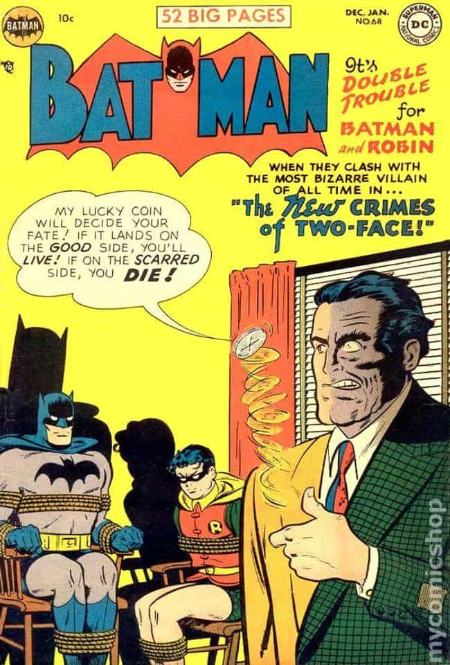 Batman #68 is listed (or ranked) 2 on the list The 100 Best Comic Book Covers of the 1950s