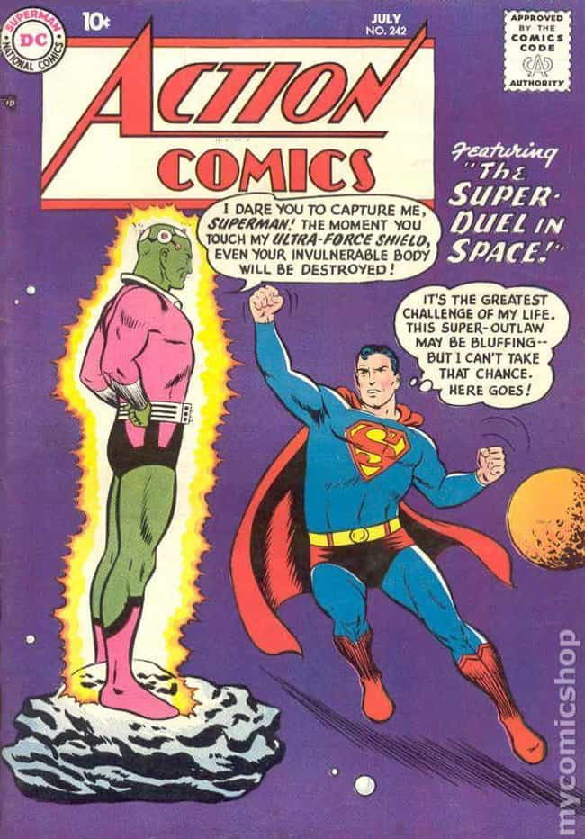 Action Comics #242 is listed (or ranked) 3 on the list The 100 Best Comic Book Covers of the 1950s