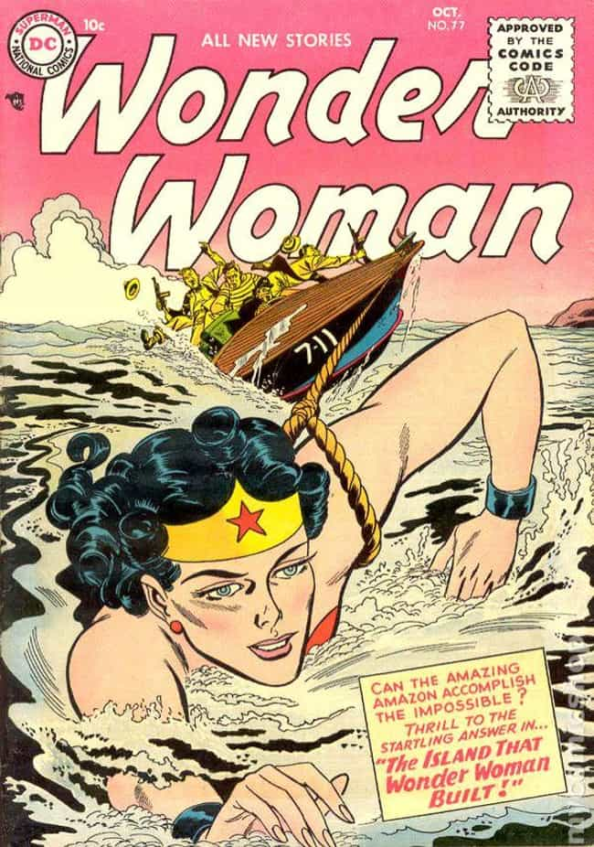 Wonder Woman #77 is listed (or ranked) 3 on the list The 100 Best Comic Book Covers of the 1950s