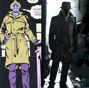 Rorschach ('Watchmen') is listed (or ranked) 2 on the list The Best DC Costume Adaptations Ever