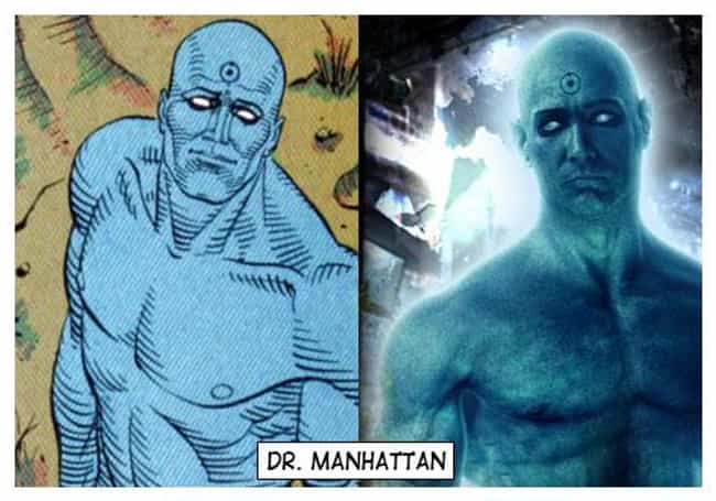 Dr. Manhattan - Watchmen is listed (or ranked) 4 on the list The Best DC Costume Adaptations Ever