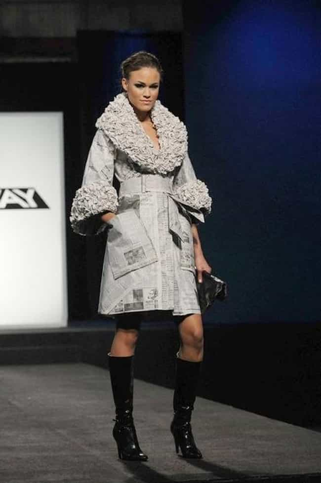 Irina Shabayeva's Newspa... is listed (or ranked) 2 on the list The Most Memorable Project Runway Looks