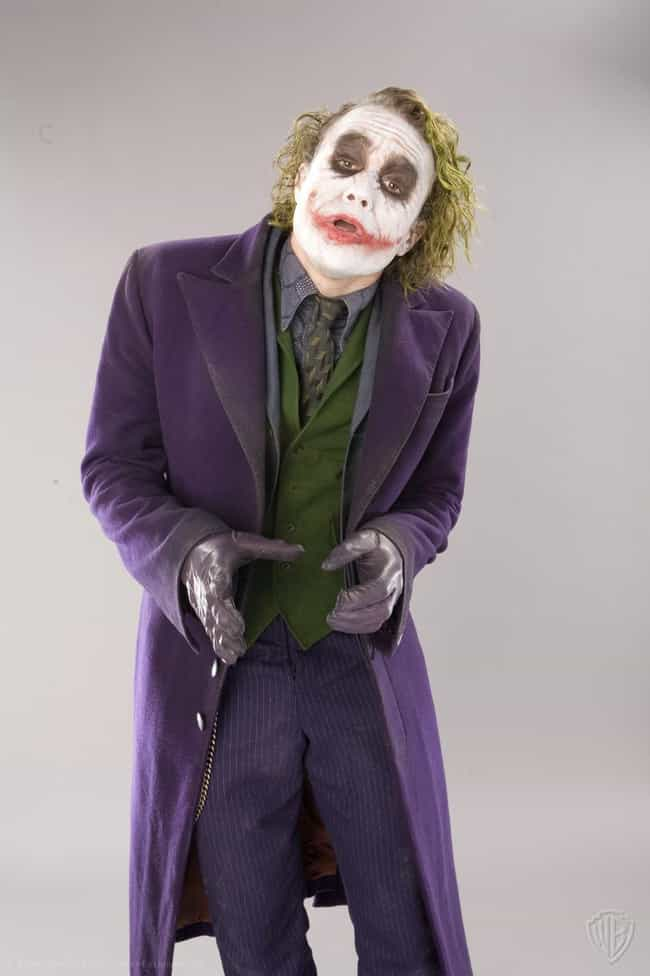 The Joker - the Dark Knight is listed (or ranked) 3 on the list The Best DC Costume Adaptations Ever