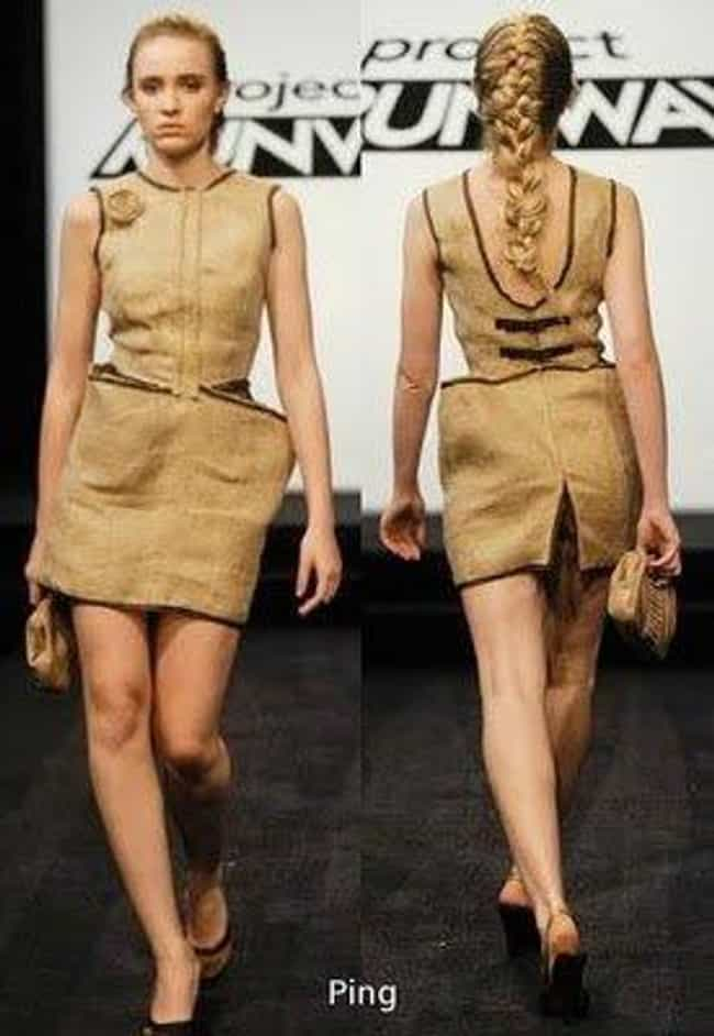 Ping's Burlap Butt Flap ... is listed (or ranked) 4 on the list The Worst Project Runway Looks Ever