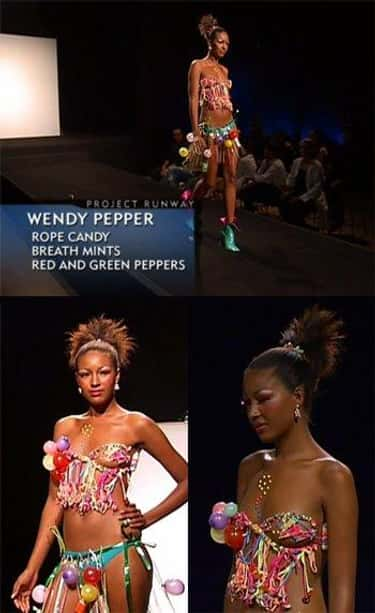 Wendy Pepper's Candy Bikini is listed (or ranked) 2 on the list The Worst Project Runway Looks Ever