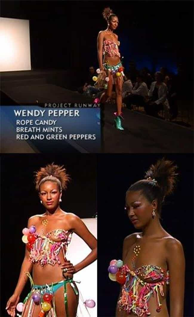 Wendy Pepper's Candy Bik... is listed (or ranked) 2 on the list The Worst Project Runway Looks Ever