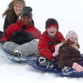 Sledding is listed (or ranked) 14 on the list The Very Best Things About Winter