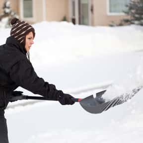 Shoveling is listed (or ranked) 10 on the list The Absolute Worst Things About Winter