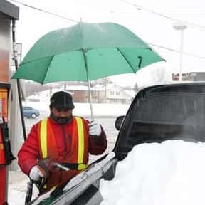 Pumping Gas is listed (or ranked) 20 on the list The Absolute Worst Things About Winter