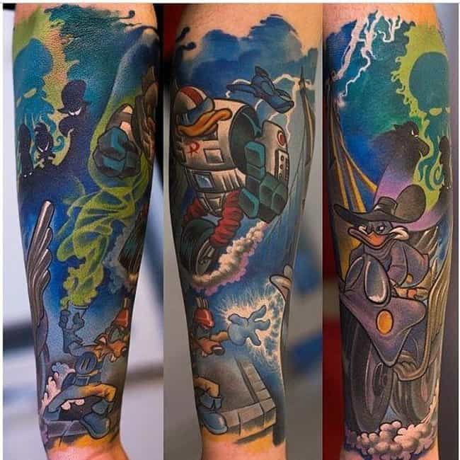 Darkwing Duck is listed (or ranked) 1 on the list Tattoos Of '90s Cartoons That Are Just As Awesome As They Are Nostalgic