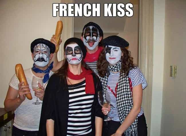 French Kiss is listed (or ranked) 3 on the list 30 Punny Halloween Costumes