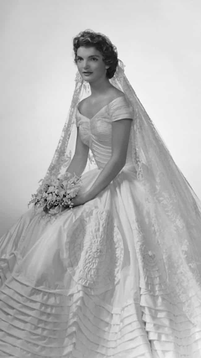 Jackie Kennedy is listed (or ranked) 4 on the list The Most Stunning Celebrity Wedding Dresses