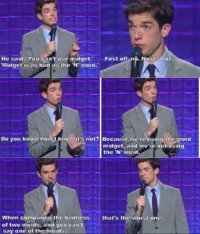 On Political Correctness is listed (or ranked) 2 on the list The Best John Mulaney Jokes