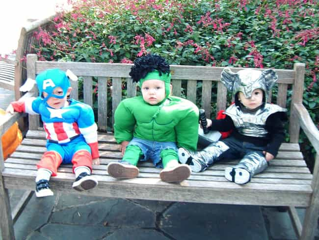 Avengers Assemble! is listed (or ranked) 1 on the list The Cutest Superhero Costumes for Kids