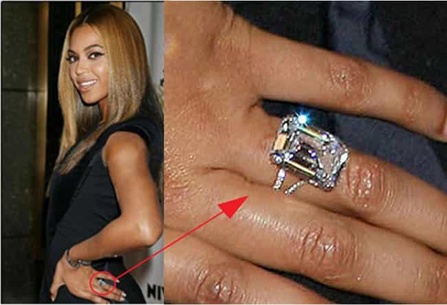 Beyoncé is listed (or ranked) 5 on the list The Most Fabulous Celebrity Engagement Rings