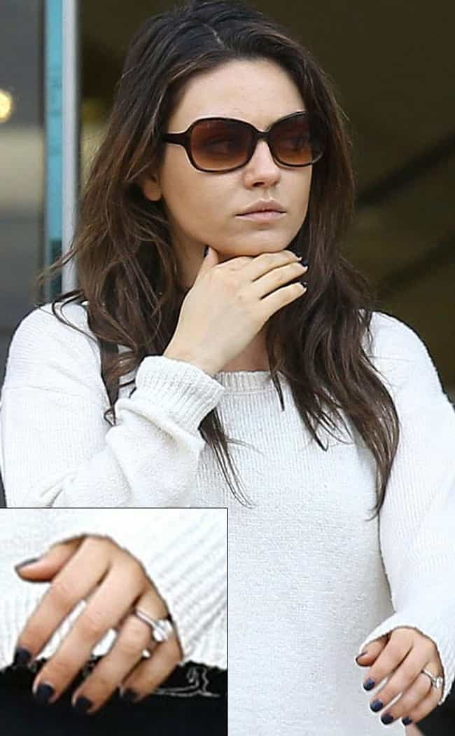 Mila Kunis is listed (or ranked) 2 on the list The Most Fabulous Celebrity Engagement Rings