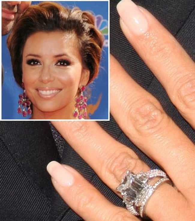 Eva Longoria is listed (or ranked) 8 on the list The Most Fabulous Celebrity Engagement Rings