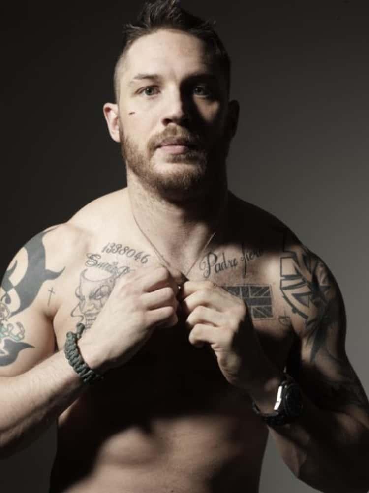 Tom Hardy Warrior 18 Of Tom Hardy S Hottest Tattoos