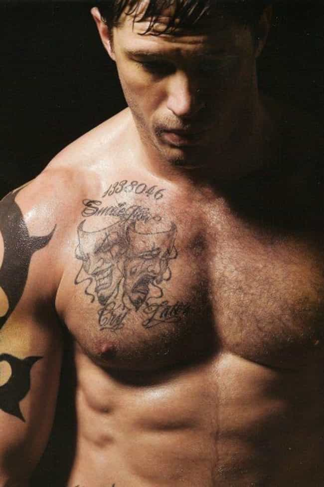 Comedy and Tragedy Masks... is listed (or ranked) 3 on the list 18 of Tom Hardy's Hottest Tattoos