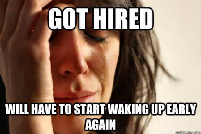Waking Early is listed (or ranked) 2 on the list Funny First World Problem Memes