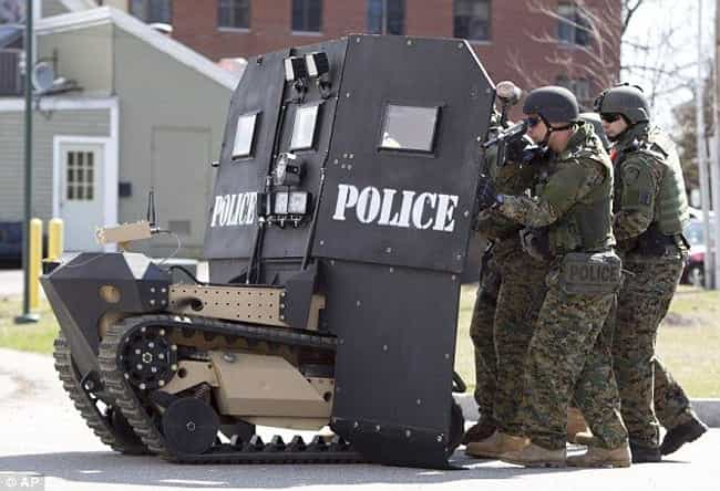 Militarized Police is listed (or ranked) 4 on the list Proof the Illuminati Exists