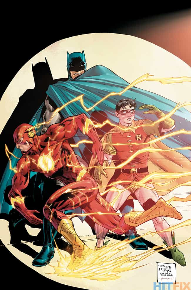 Batman #38 is listed (or ranked) 3 on the list 22 Amazing Flash 75th Anniversary Variant Covers