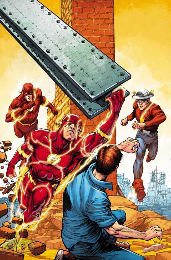 Flash #38 is listed (or ranked) 4 on the list 22 Amazing Flash 75th Anniversary Variant Covers