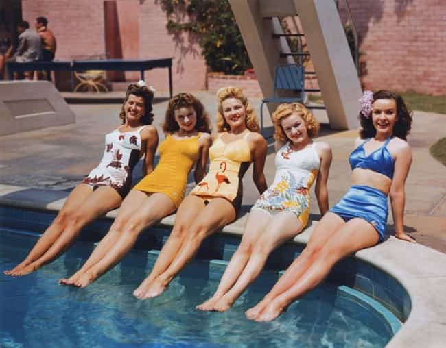 Bathing Beauties in 1944 is listed (or ranked) 1 on the list 100 Incredible Vintage Photos