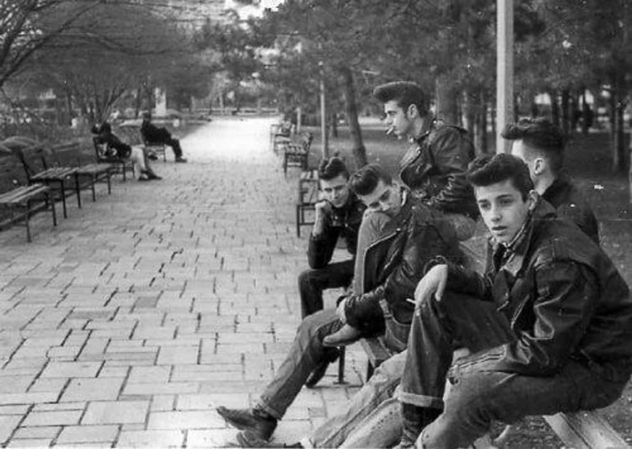 Greasers In New York, 1950s is listed (or ranked) 2 on the list 100 Incredible Vintage Photos