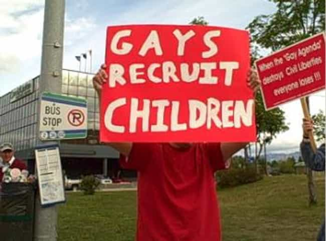 Gay Recruitment is listed (or ranked) 3 on the list 16 Moral Panics That Are Keeping Your Parents Up At Night