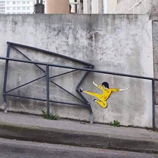 The Return of Bruce Lee! is listed (or ranked) 1 on the list 50+ Times Vandalism Made Other Things Better