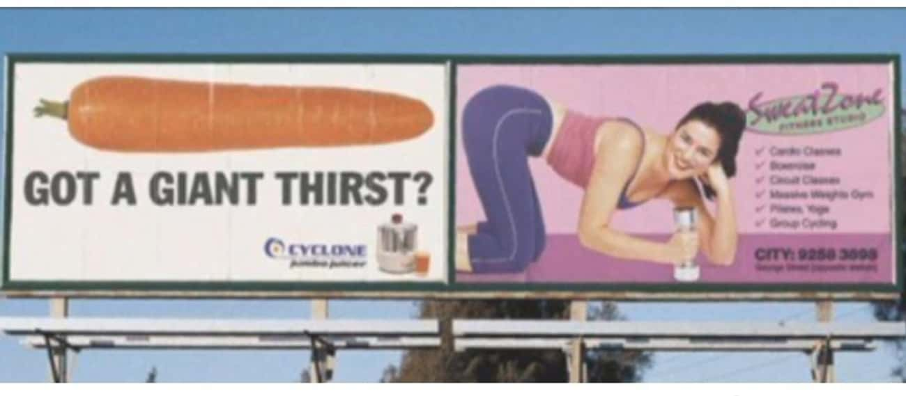 Giant Thirst? is listed (or ranked) 2 on the list 13 Cases of Truly Unfortunate Ad Placement