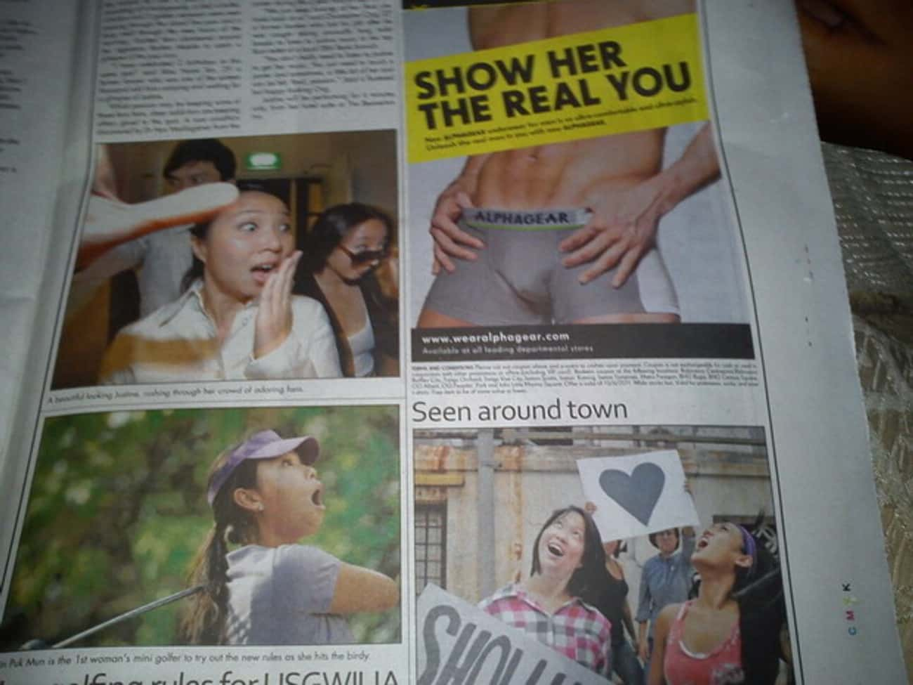 Oh My... Look at That! is listed (or ranked) 1 on the list 13 Cases of Truly Unfortunate Ad Placement