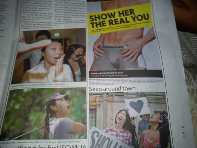 Oh My... Look at That! is listed (or ranked) 1 on the list 29 Cases of Truly Unfortunate Ad Placement