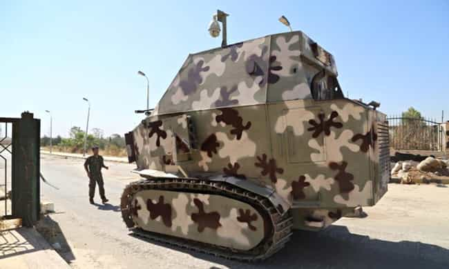 Improvised Peshmerga Tanks is listed (or ranked) 3 on the list The Most Ridiculous (Real) Weapons Used Throughout History