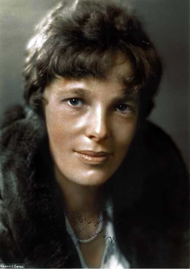 Amelia Earhart in 1930 is listed (or ranked) 3 on the list 20 Incredible Colorized Photos from History