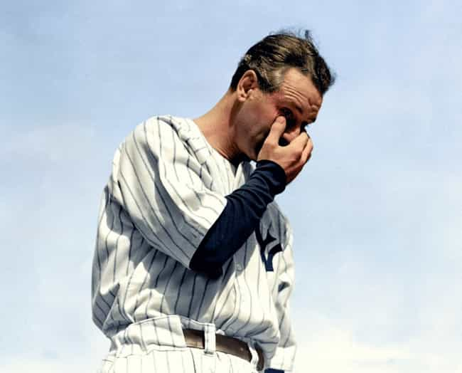 Lou Gehrig's Farewell Speech o... is listed (or ranked) 2 on the list 20 Incredible Colorized Photos from History
