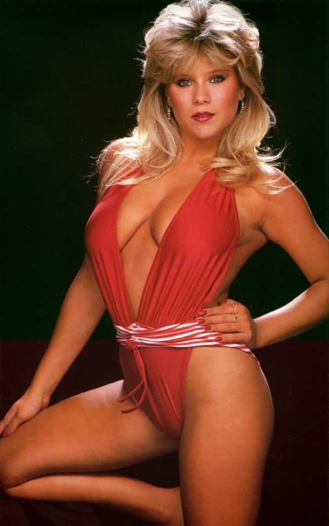 Samantha Fox in red monokini is listed (or ranked) 4 on the list The Hottest Samantha Fox Photos