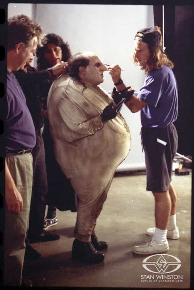 Danny DeVito Getting Penguin M... is listed (or ranked) 1 on the list 30 Awesome Behind the Scenes Photos from '90s Movies