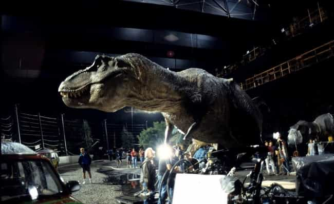 Jurassic Park T-Rex Animatroni... is listed (or ranked) 2 on the list 30 Awesome Behind the Scenes Photos from '90s Movies