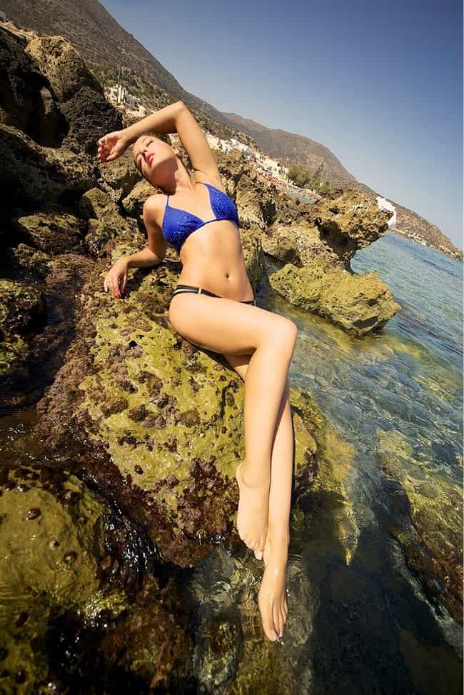 Sapir Azulay in blue string bi... is listed (or ranked) 1 on the list The Hottest Sapir Azulay Photos