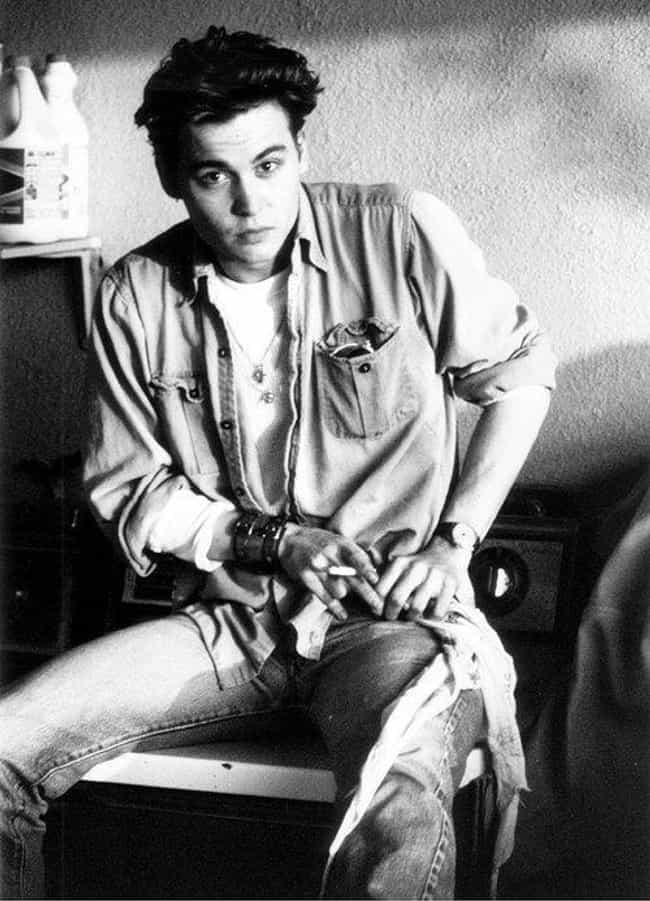 Johnny Depp Probably Jus... is listed (or ranked) 3 on the list 25 Pictures of Young Johnny Depp
