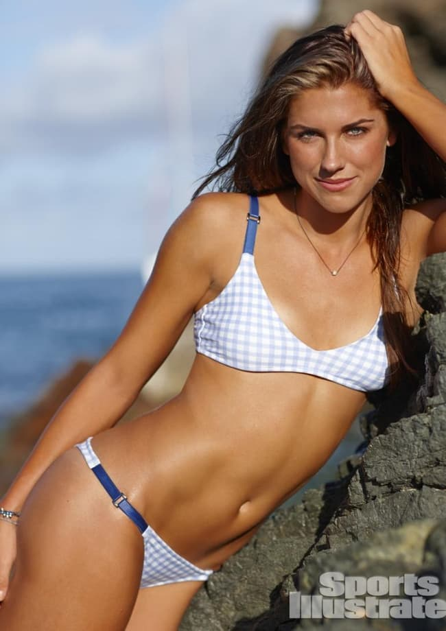Alex Morgan Leaning