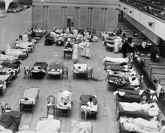 Spanish Flu is listed (or ranked) 2 on the list 15 Times The World Was Almost Completely Destroyed