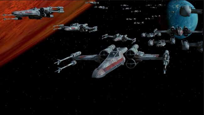 X-Wing is listed (or ranked) 1 on the list The Most Popular Sci-Fi Starfighters